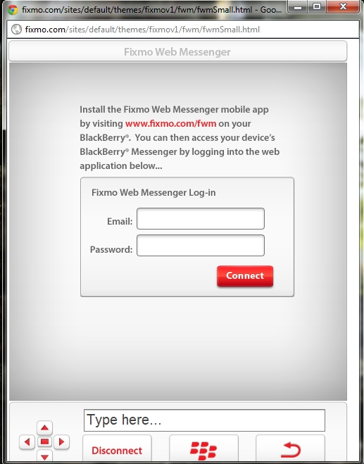 blackberry messenger web